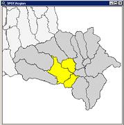 Auswahl einzelner Gemeinden für die Standortsuche per Mausklick