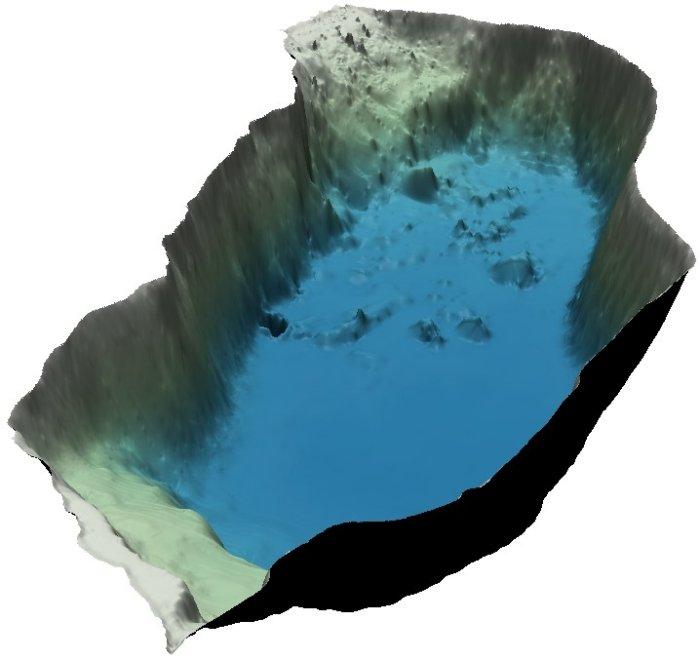 Geländemodell Seebecken Altauseer See