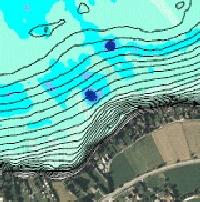 Mächtigkeit schwebender Schlamm Ossiacher See