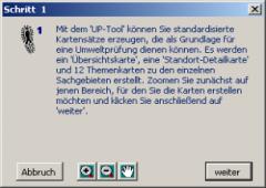 UP-Tool: Dialogfenster für eine Schritt-für-Schritt-Anleitung